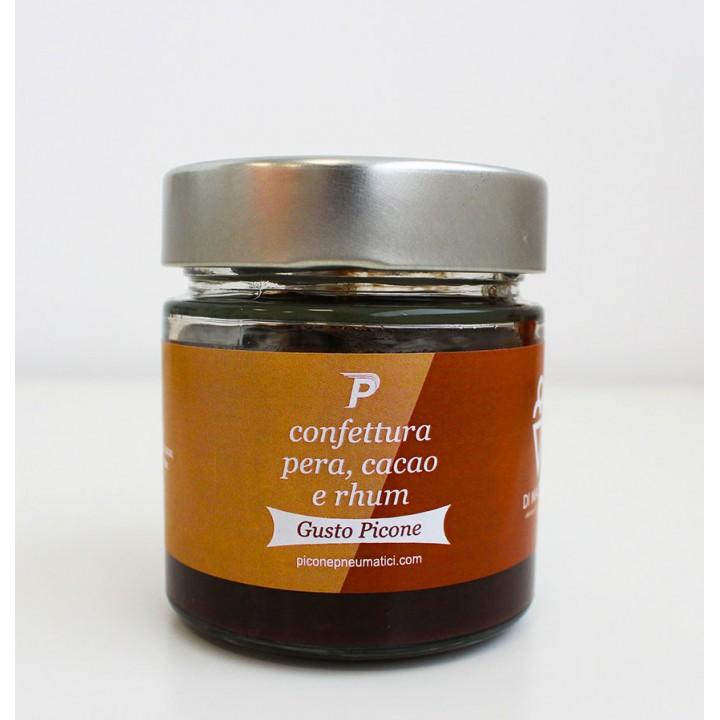 Confettura pera, cacao e rhum